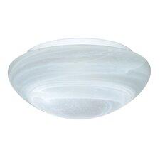 2 Light Marble Glass Flush Mount