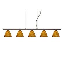 Mia 5 Light Cable Hung Linear Pendant