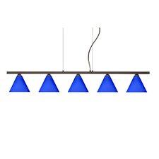 Kani 5 Light Cable Hung Linear Pendant