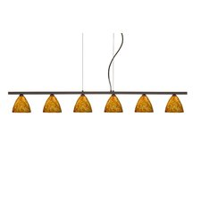 Mia 6 Light Cable Hung Linear Pendant