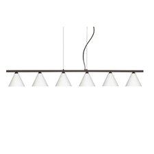 Kani 6 Light Cable Hung Linear Pendant