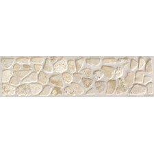 "Artistic Accent Statements 12"" x 3"" Pebble Decorative Border in Baja Cream"
