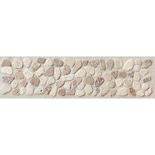 "Artistic Accent Statements 12"" x 3"" Pebble Decorative Border in Baja Cream/Walnut"