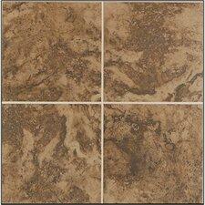 "Pavin Stone 6"" x 6"" Ceramic Field Tile in Brown Suede"