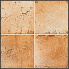 "Quarry Stone 12.5""x 12.5"" Porcelain Field Tile in Amber"