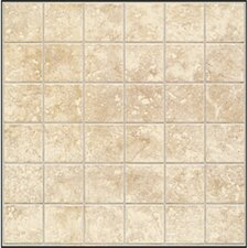 "Steppington 2"" x 2"" Ceramic Mosaic Tile in Baronial Beige"