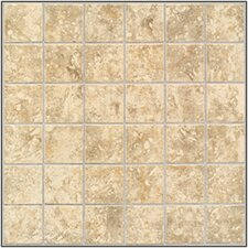 "Steppington 2"" x 2"" Ceramic Mosaic Tile in Traditional Taupe"