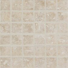 "Steppington 2"" x 2"" Ceramic Mosaic Tile in Provincial Pearl"