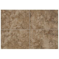 "Natural Pavin Stone 2"" x 2"" Mosaic Bullnose Corner Tile Trim in Brown Suede (Set of 2)"