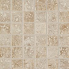 "Steppington 2"" x 2"" Ceramic Mosaic Tile in Baronial Beige and Traditional Taupe Blend (Set of 2)"
