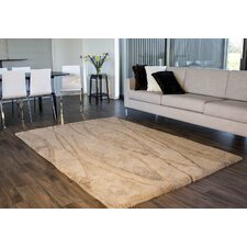 Shortwool Design Curves Tan Area Rug