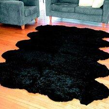 Curly Zealamb Black Rug