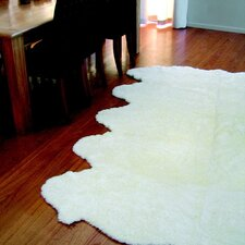 Curly Zealamb White Rug