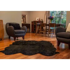 Curly Zealamb Black Rug