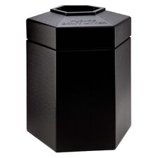 PolyTec 45 Gallon Hex Waste Container