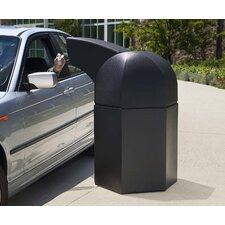 PolyTec 45-Gal Hex Waste Container with Drive-Through Lid