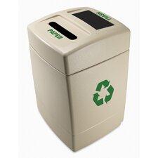 Green Zone 55-Gal Multi Compartment Recycling Bin