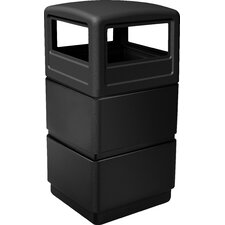 PolyTec 38 Gallon 3-Tier Waste Container with Dome Lid