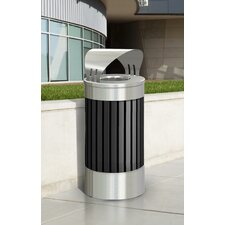 Riverview Series 15-Gal Canopy Top Trash Receptacle