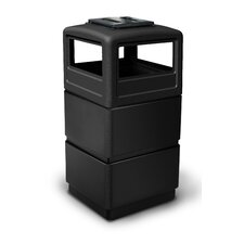 PolyTec 38-Gal 3-Tier Waste Container with Dome Lid Ashtray