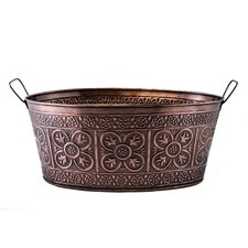 Quatrefoil Oval Steel Beverage Tub