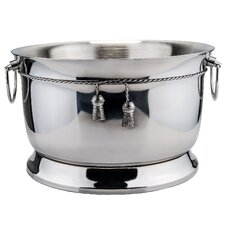 17 Qt. Stainless Steel Double Walled Party Tub with Tie Knot