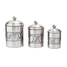3 Piece Apple Canister Set