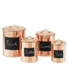 4-Piece Decor Copper Chalkboard Canister Set