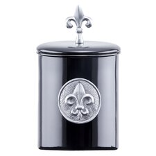 Fleur De Lis 4-Quart Black Fleur De Lis Cookie Jar