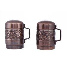 Antique Embossed Heritage Stovetop Salt and Pepper Set