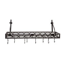 Wall Mounted Bookshelf Pot Rack