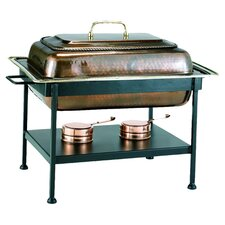 Rectangular Antique Copper Chafing Dish