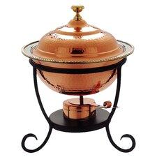 Round 3 Qt. Decor Copper Chafing Dish