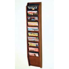 10 Pocket Wall Mount Magazine Rack
