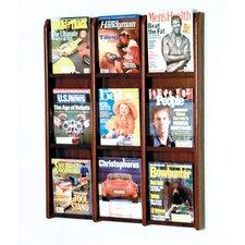9 Pocket Magazine Wall Display
