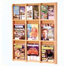 9 Magazine / 18 Brochure Wall Display