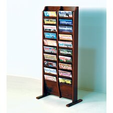 20 Pocket Free Standing Magazine Rack