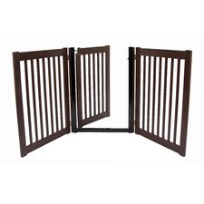 """Amish Handcrafted 32"""" 3 Panel Walk-Through Free Standing Gate"""