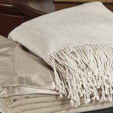 Aus Vio Mulberry Silk Fleece Throw Blanket