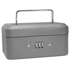 Extra Small Gray Combination Lock Box