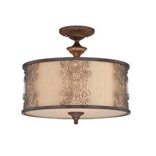 Windsor 3 Light Semi Flush