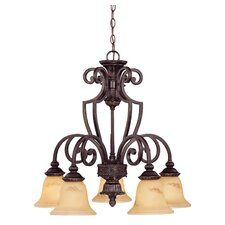 Knight 5 Light Down Chandelier