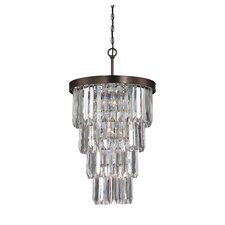 Tierney 7 Light Entry Crystal Chandelier