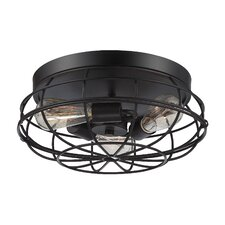 Scout 3 Light Flush Mount