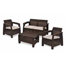 Corfu 4 Piece Seating Group with Cushions