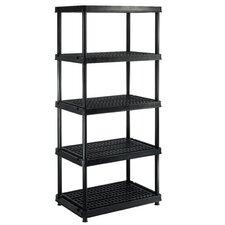 "Utility 72"" H Five Shelf Shelving Rack Unit"