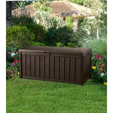 Glenwood Outdoor Patio Furniture 101 Gallon Plastic Deck Box