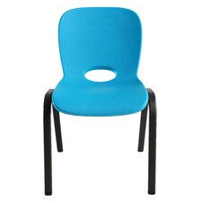 Armeless Contemporary Childrens Stacking Chair (Set of 4)