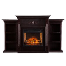 Tabor Infrared with Bookcases Electric Fireplace
