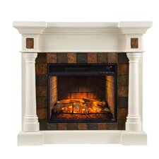 Cobell Faux Slate Convertible Infrared Electric Fireplace